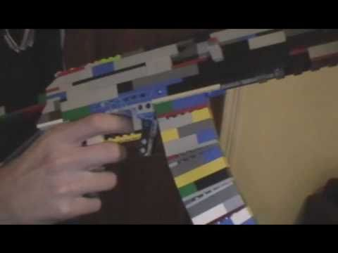 how to make a lego semi auto rubber band gun