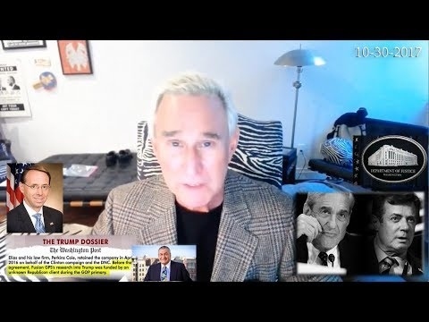 Roger Stone Discusses Paul Manafort, George Papadopoulos, Mueller Indictments latest News