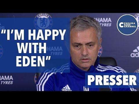 Chelsea Vs Liverpool   I'm Happy With Eden Hazard   Jose Mourinho Press Conference