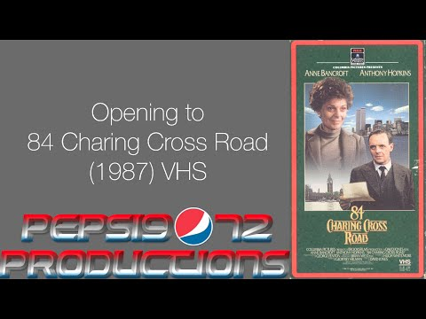 Opening to 84 Charing Cross Road (1987) VHS