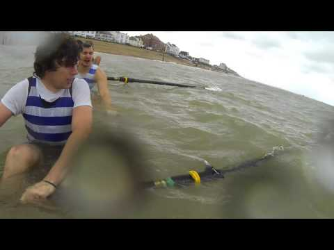 Itchen Imperial Novice C Crew sinking at Deal in the South Coast Rowing Championships in HD