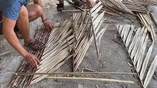 Hướng dẫn làm vách nhà bằng lá dừa siêu đẹp