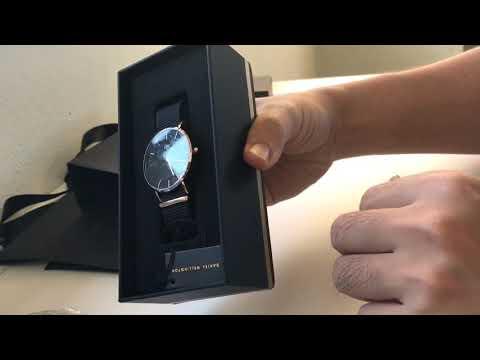 Unboxing - Daniel Wellington Classic Cornwall Black/Gold 36mm