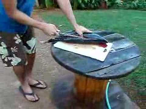 How To Clean a 15lb Ahi