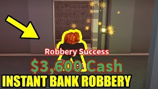 *NEW* INSTANT BANK ROBBERY GLITCH   Roblox Jailbreak Mythbusters