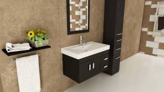 "35.5"" Lyra Single Bathroom Vanity - Espresso"