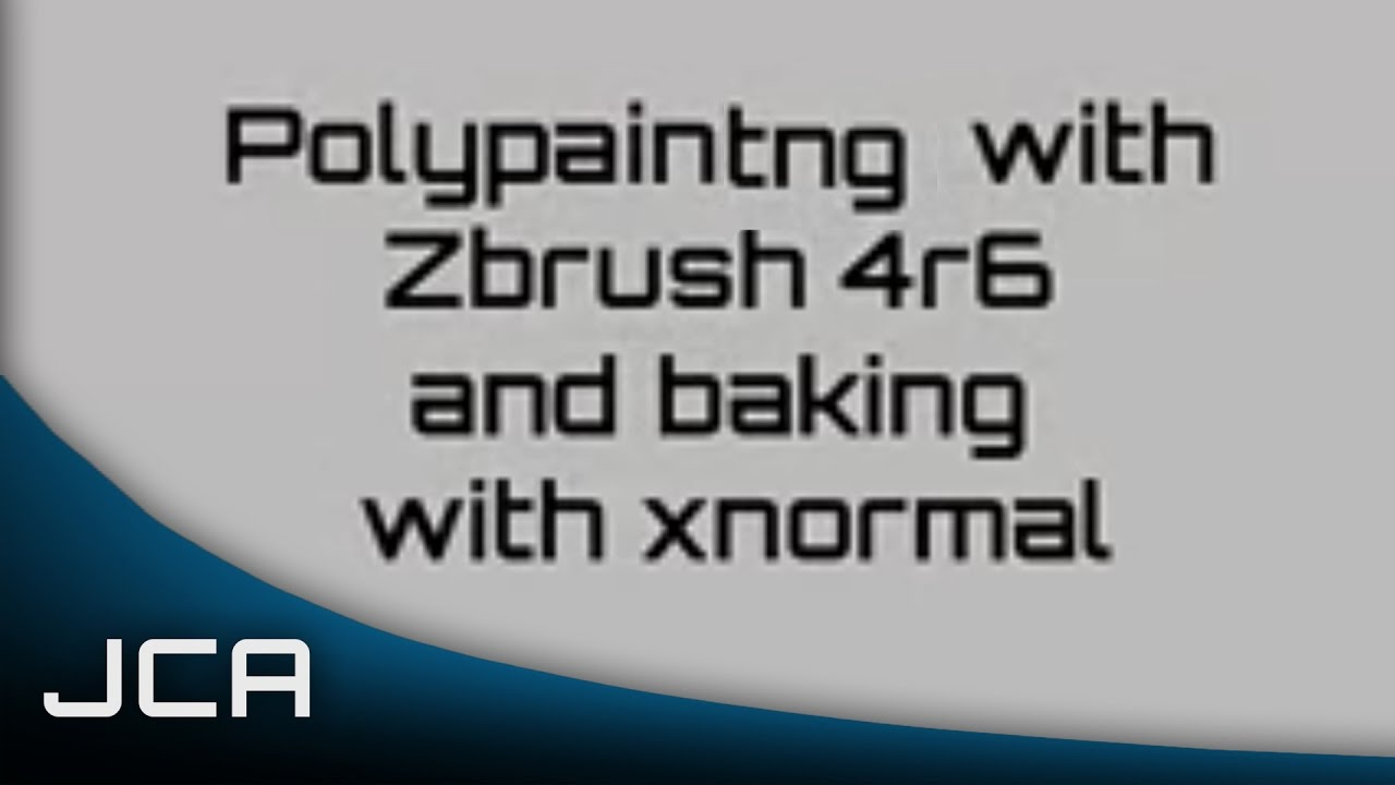 Zbrush Polypainting and Baking in Xnormal Tutorial (Basics
