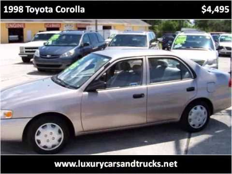 Nice 1998 Toyota Corolla Used Cars Port St. Lucie FL
