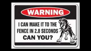 Funny dog warning signs