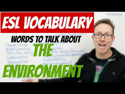 English lesson - Environment vocabulary - palabras en inglés