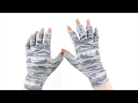 High Quality Uv Sun Fishing Gloves Spf Upf 50+ Customized Fishing Fingerless Hand Protection