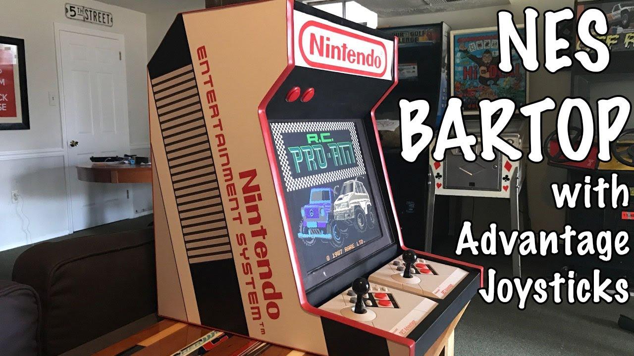 NES Bartop with Advantage Joysticks - YouTube