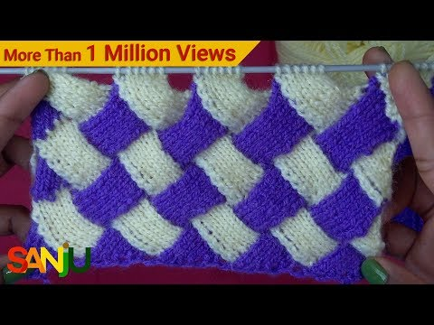 Interlock knitting pattern design