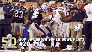 Top 50 Clutch Super Bowl Moments #20-11   NFL