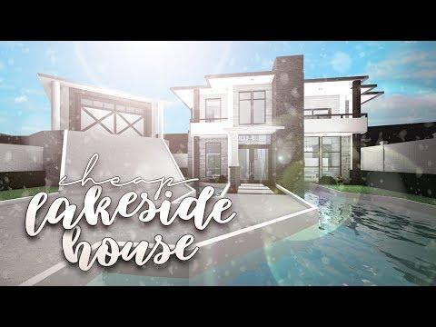 Roblox Bloxburg Cheap Lakeside House House Build Youtube