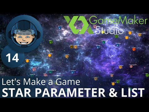 STAR PARAMETER GRID & LIST - Let's Make A Game: Ep. #14 - Project Automation - Game Maker Tutorials