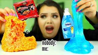 Download the slime video nobody asked for.. Spicy Ramen Slime, dish soap slime  +more Mp3 and Videos