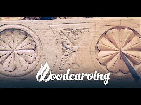 Woodcarving Baroque Flower