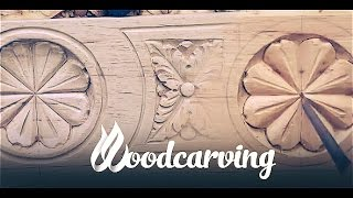 Woodcarving Baroque Flower Ornament ►► Timelapse Резьба по дереву Орнамент Барокко