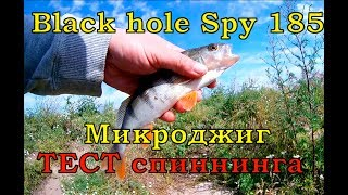 Микроджиг видео Спиннинг для микроджига Black hole Spy Окунь