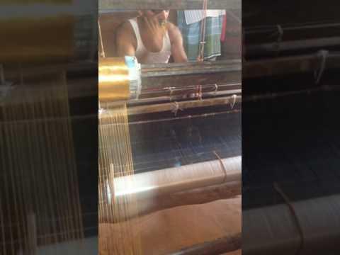 Handloom Silk Weaving Process