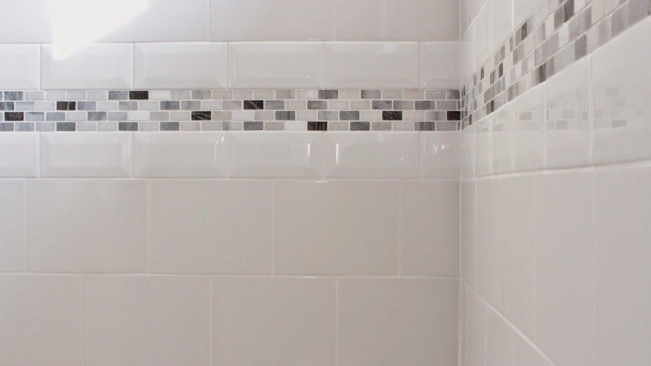 Bathroom Tile Borders Design for Home - YouTube