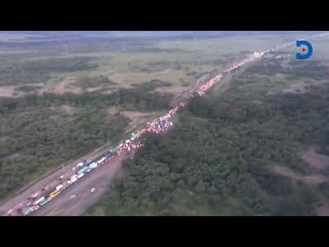 An aerial view of the close to 9 hour huge traffic jam on Nairobi-Nakuru highway