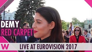 Demy (Greece) red carpet interview @ Eurovision 2017