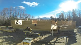 Building A Log Home Captured in 30,000 GoPro Photos