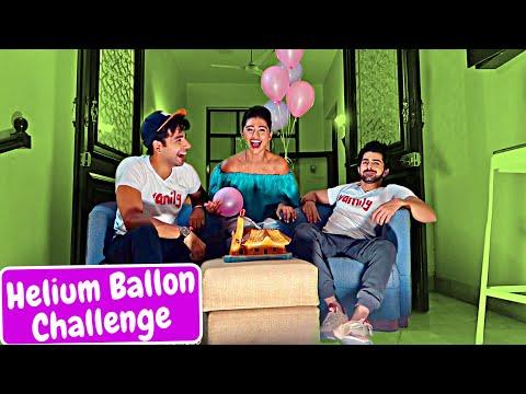 Helium Balloon Challenge   Rimorav Vlogs