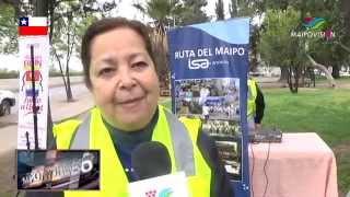 Municipalidad de Buin y Ruta del Maipo entregan chalecos reflectantes.