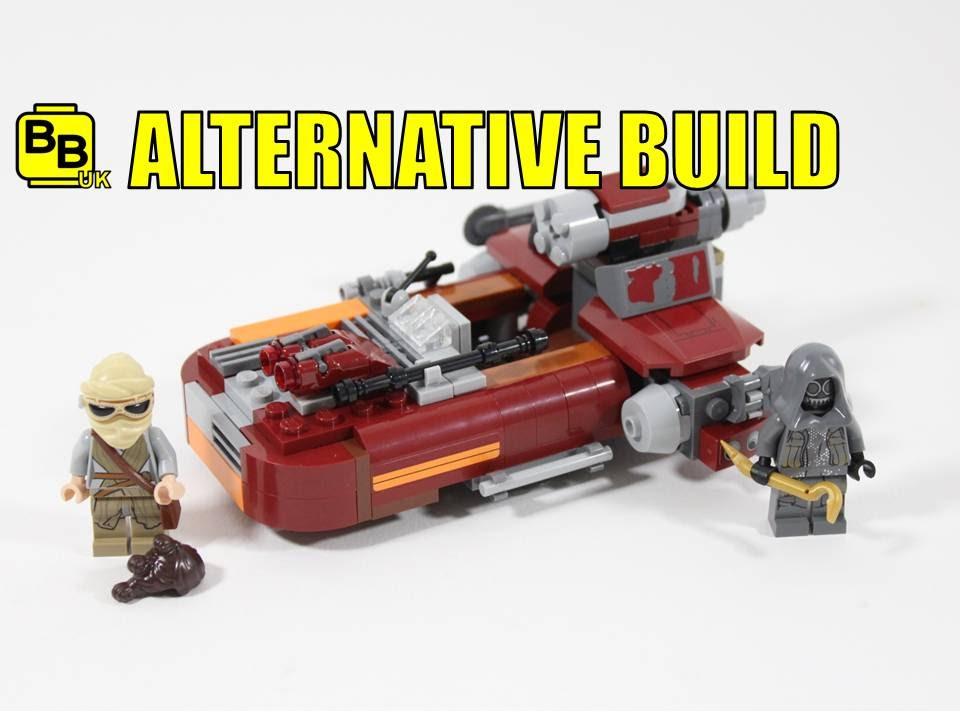Lego Star Wars 75099 Alternative Build Reys Landspeeder Youtube