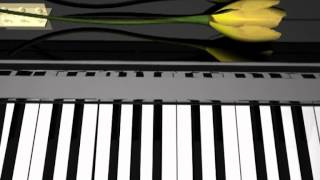 """3D animated piano (using the piano piece """"Julie"""")"""
