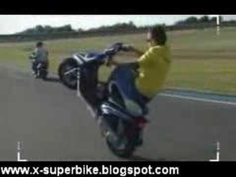 valentino rossi on scooter stunt youtube. Black Bedroom Furniture Sets. Home Design Ideas