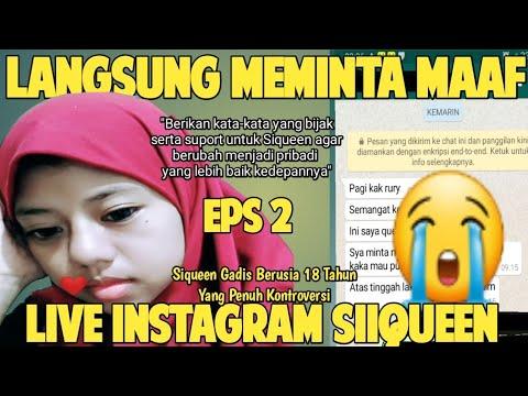 Kerja Cari Uang Sekaligus Permintaan Maaf Siqueen Atas  Live Di Akun Instagramnya (Eps2)