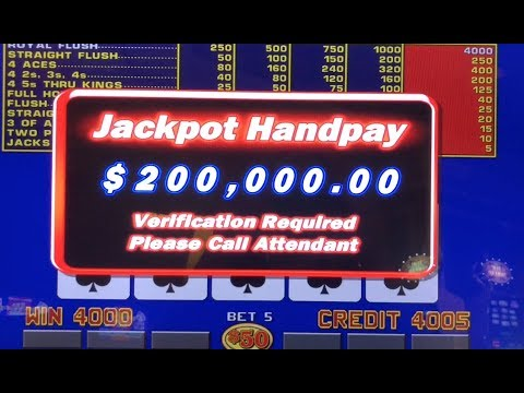 $200,000 JACKPOT WIN With Royal Flush On Video Poker In Vegas!