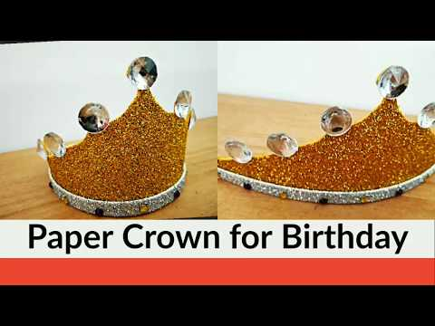 How to Make King/Queen Crown for Birthday? DIY 2019 @simplified Crafts and Arts