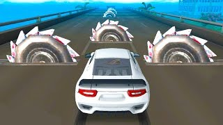DEADLY RACE - CAR VS GIANT SAWS - Speed Car Bumps Challenge - 3d Android Gameplay