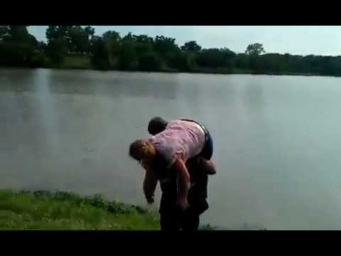 Julie getting thrown into Cedar Lake