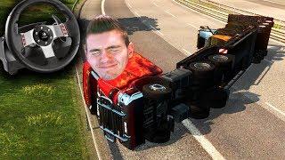 CAMINHÃO NOVO = ACIDENTE!!! (DEU RUIM) Euro Truck Simulator 2