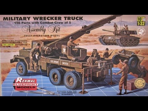 How to Build the Military Wrecker Truck 1:32 Scale Revell Model Kit 85-7816