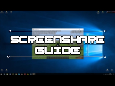 Screenshare Guide | Minecraft