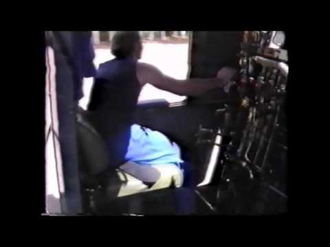 South African Railways Trans Karoo footplate scenes 1994