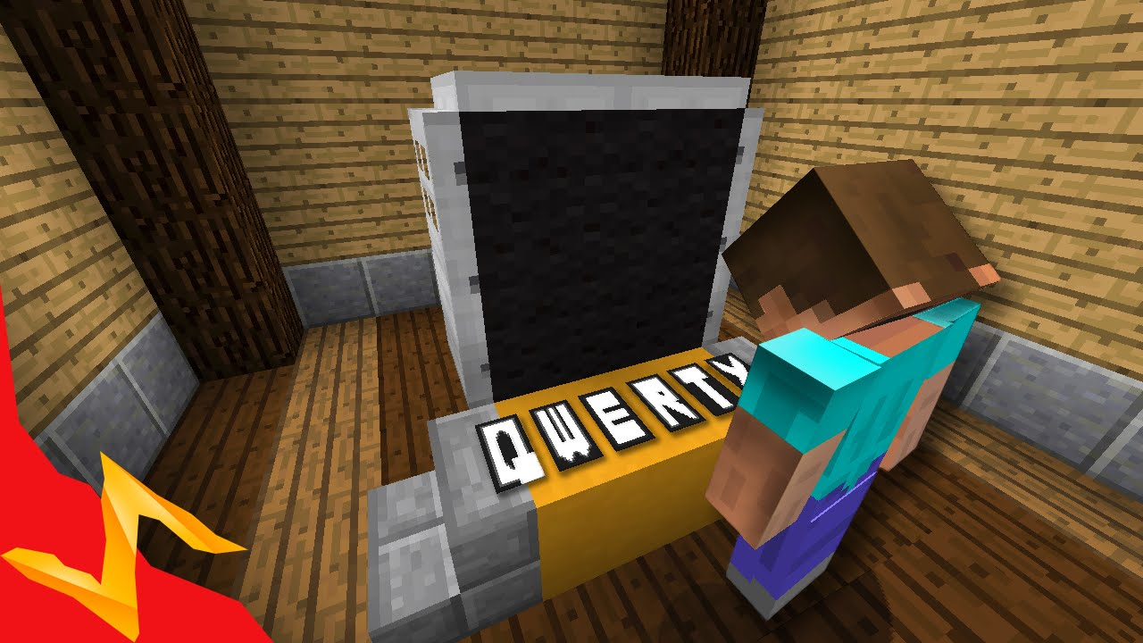 Full QWERTY Keyboard in Survival Minecraft - YouTube