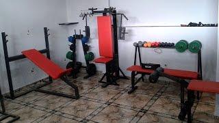 Mostrando Minha Academia Em Casa / Na Garagem - My Home Gym