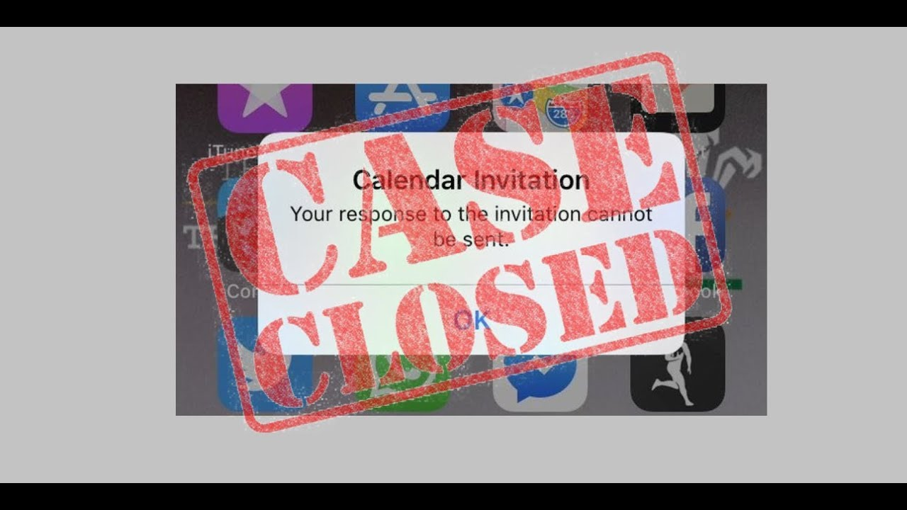 Calendarinvitation Calendarinvitationerror Iphone