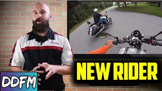 New Rider Learns The Risks Of Riding A Motorcycle / Motorcycle Riding Tips