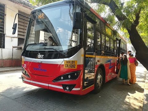 Mumbai's Electric Bus | Short Ride by the Sea in the Silent Bus!!