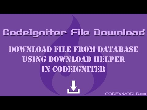 Cara Download File Codeigniter