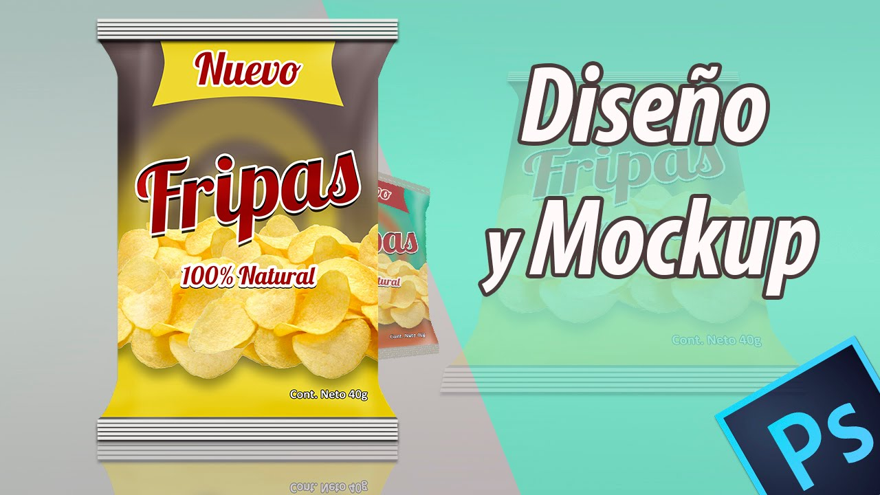 Mockup y diseño de empaque de papas en photoshop CC - YouTube